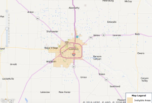 Lubbock USDA Zone Map