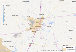 Waco USDA Eligibility Map - 2