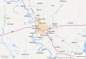 Baton Rouge USDA Zone Map
