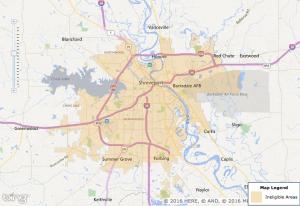 Shreveport USDA Map - 2