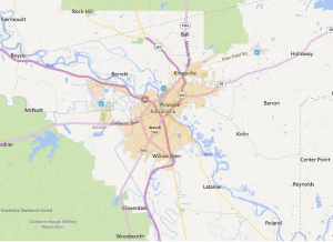 Alexandria Louisiana USDA Loan Map - 2