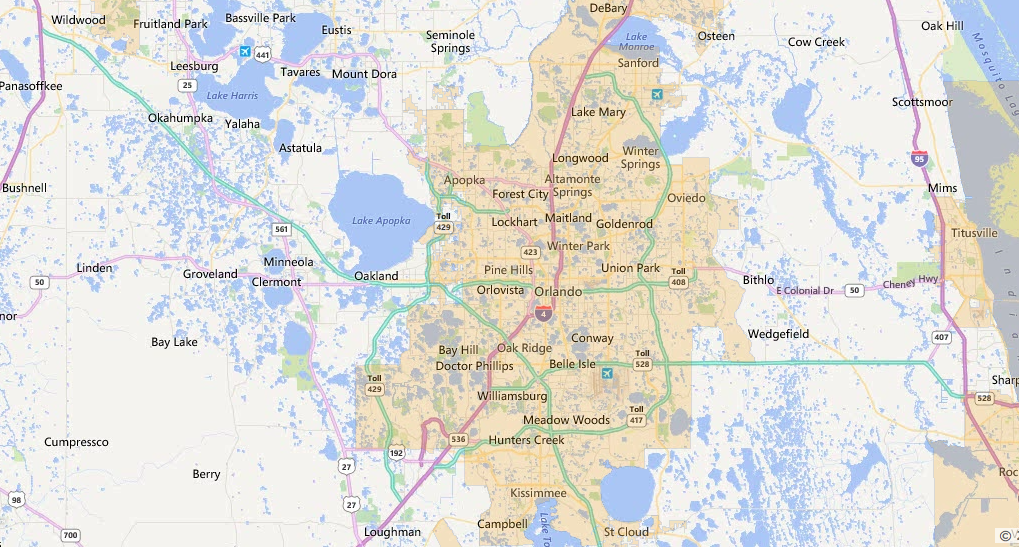 Usda Loan Florida Map.Orlando Florida Usda Loan Map Usa Home Financing